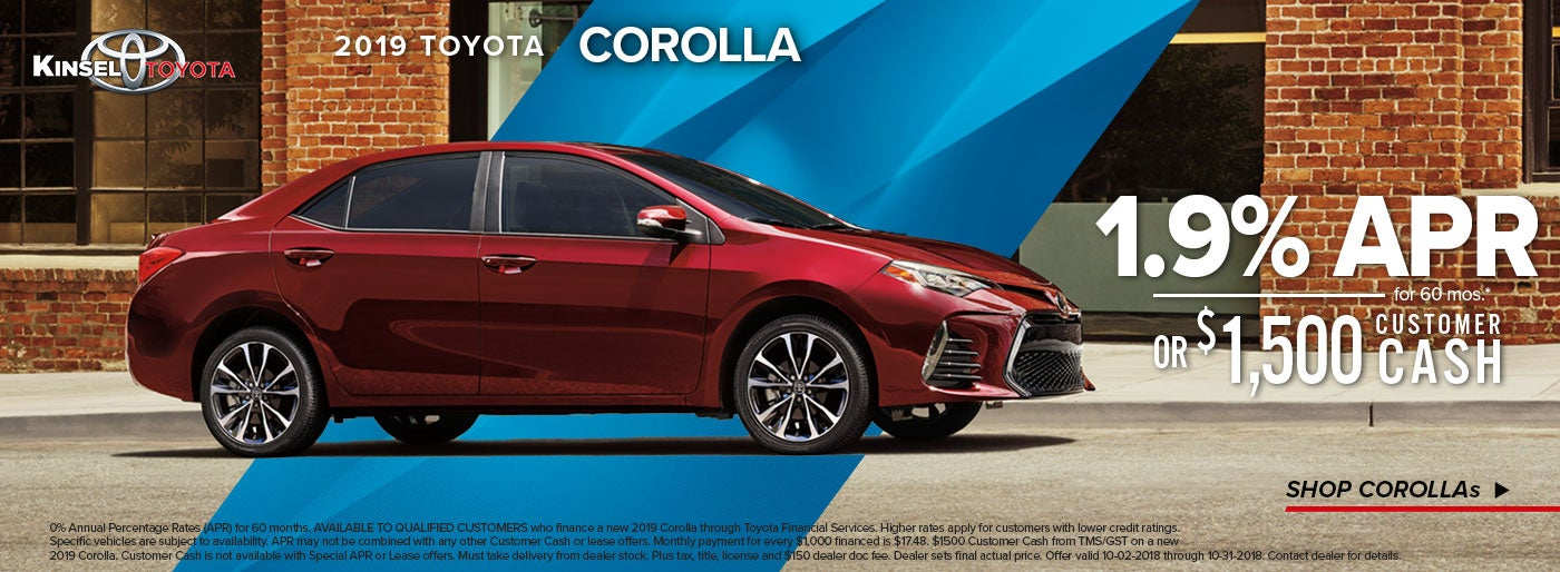 Toyota New Car Specials In Beaumont TX Kinsel Toyota Price Specials - Car show beaumont tx